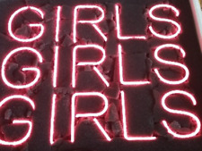 """New Girls Girls Girls Pink Color Wall Decor Neon Sign 24"""""""