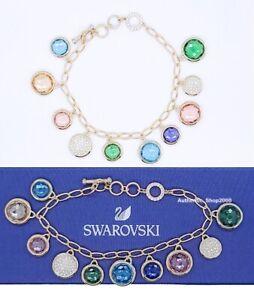 NEW Authentic SWAROVSKI Gold Tahlia Colorful Elements Charms Bracelet 5560943
