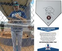 Mike Hampton Astros Signed Baseball Home Plate Base Beckett BAS Proof Autograph
