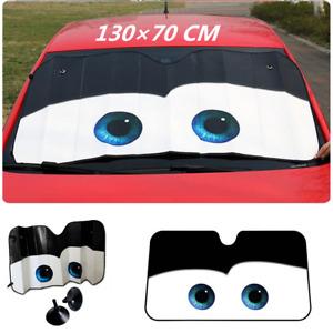 Big Eyes Car Front Window Sun Shade Visor Windshield Sunshade Cartoon Block Kit