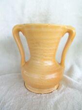 """Early Haeger ringed, 6 3/4"""" double handled vase, great glaze,, *EXC*"""