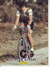 CYCLISME carte cycliste PASCAL POISSON équipe RENAULT elf GITANE 1982