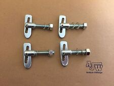 4 x Antiluce Fastener Drop Lock ZP M8 x 38mm Horseboxes Trailer Trucks Tail Gate