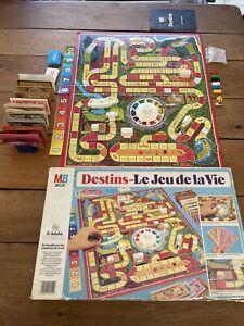 Vintage 1981 MB Jeux DESTINS En Famille Sur Les Chemins De La Vie Complet