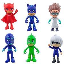 6 unids / set PJ Máscaras 8-9 cm Catboy Owlette Gekko Capa Aktion Figuren Kinder