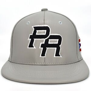 Puerto Rico Snap back hat Flag 3D PR Flat Bill Rico Baseball Synthetic Leather