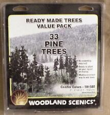 "33 model railroad SCENERY PINE TREES woodland scenics  2""-4"" 1580"