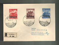 1941 Luxembourg Occupation Cover to Germany Stamp Day Cancel