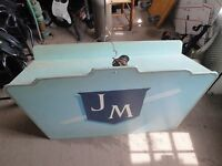 ANTIQUE VINTAGE PODIUM SIGN JM