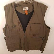 Olive Jeep Fishing Tank Top Shirt Size XL