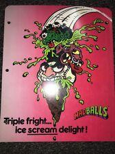 Vintage 80's  Madballs Mad Balls 3 Ring Binder School Folder
