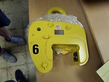 safety vertical lifting clamp vl215821 with extra jaws!!!!! 3 3/4 in to 5 1/2 in