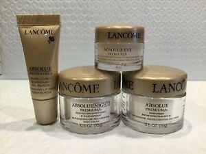 Lancome Absolue Premium Bx Skincare Day, Night, Eye Cream & Lip Balm Set New