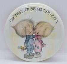 "Vintage 6"" Betsey Clark Love Dots Hallmark Pin/Easel Love Makes Burdens Lighter"