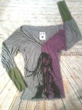 NUVULA  Wear Your Imagination Top Shirt Drape Baggy Long Sleeve Women's Size M