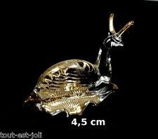 magnifique escargot en verre avec dorures, miniature de collection   G10-22