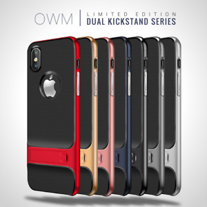 KICK STAND Dual Shockproof Hard Cover Case For Apple iPhone 6 6s 7 8 Plus X XS