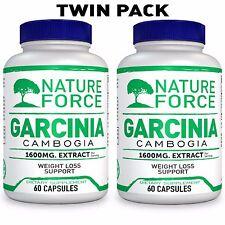 2 х Nature Force Garcinia Cambogia 1600mg Pure Extract with HCA 60 Caps from USA