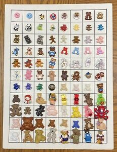 Collectors Card of 88 Novelty Bear Theme Buttons-SKU 545