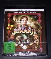 Jumanji Con Robin Williams 4K Ultra HD blu ray Spedizione più Veloce Nuovo & Ovp