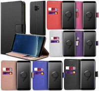Samsung Galaxy S10 Plus S10e S9 PU Leather Flip Case Wallet Magnetic Cover