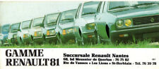 Depliant PUBLICITAIRE RENAULT 4 5  alpine turbo  14  18  fuego 20 30 a310 rodeo