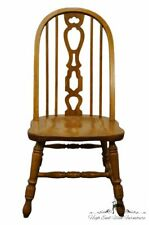 RICHARDSON BROTHERS Solid Oak Country French Bow Back Dining Side Chair