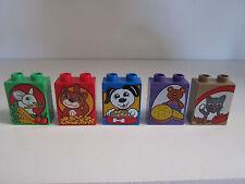 Lego Duplo Decorated Picture Bricks Cat Kitty Dog Puppy  Rabbit Bunny Bear  NEW