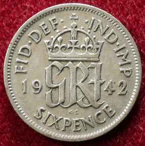GB Silver Sixpence 1920 to 1946 (Choose the Year) (GLIC-003G)
