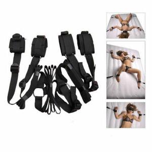 Under Bed Restraint System BDSM Mattress Bondage Wrist Ankle Straps Handcuffs