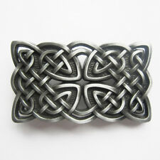 Original Celtic Cross Knot Cowboy Western Metal Belt Buckle