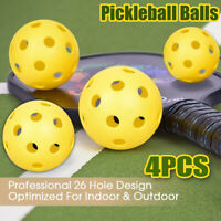 🔥 Set of 4 Pickleball Balls Pro 26 hole Design for Outdoor & Indoor Sport UK