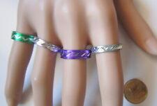 Lote 4 anillos aluminio colores nº 9 ó 18 mm diámetro medio bisutería r-40