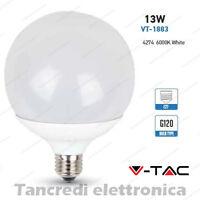 Lampadina led V-TAC 13W = 75W E27 bianco freddo 6000K VT-1883 globo G120 lampada