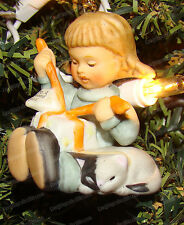 Little Gift Wrapper (Goebel Studio Hummel, 96031) 1997 Xmas Ornament, Porcelain