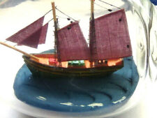 "Two Masted Schooner in a 6"" long pinch bottle ""Ship in Bottle"""