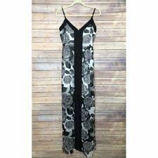 Arden B Black/White/Gray Floral Maxi Dress XS