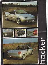 HACKER MAROC kit car FIESTA based 1991/2 DUTTON DESIGN ## RARE ##  *POST FREE UK
