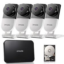 Zmodo 720p HD Wireless Home Surveillance Camera System - 4 Cameras with Night