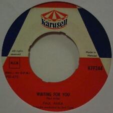 """Paul Anka(7"""" Vinyl)Waiting For You-Karusell-KFF 244-Norway-Ex/VG"""