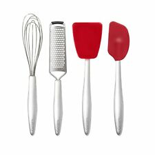 """Cuisipro 8"""" Piccolo 4pc Silicone & Stainless Steel Mini Baking Tool Set"""
