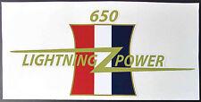 "BSA 650 LIGHTNING POWER CUSTOM SIDE COVER DECAL 7.5"" X 3.5"""