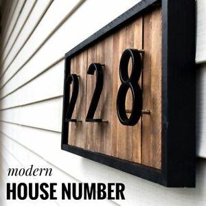 House Number 125mm Floating Letters Big Modern Door Black Alphabet Home Outdoor