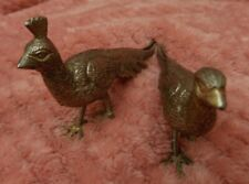 More details for vintage pair of silver birds, silver pheasant figurines,  menu holders