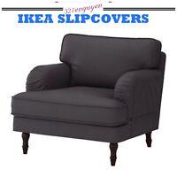 IKEA Stocksund COVER SLIPCOVER FOR Chair  Nolhaga Dark Gray  502.803.24
