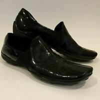 Sesto Meucci Loafers Flats Shoes Women's Size 7M Black Patent Leather Slip On