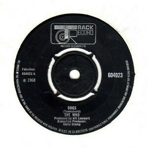 "THE WHO - DOGS / CALL ME LIGHTNING.""RARE"" UK ORIG 1968 7"".G"