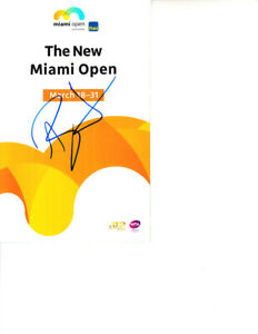 Ash Ashleigh Barty autographed signed 2019 Miami Open tennis tournament program