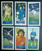 Group of 6 CHELSEA Score UK football trade cards WILKINS NEVIN HOLLINS TAMBLING