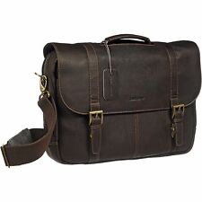Samsonite Colombian Leather Flapover Business Case (Brown)